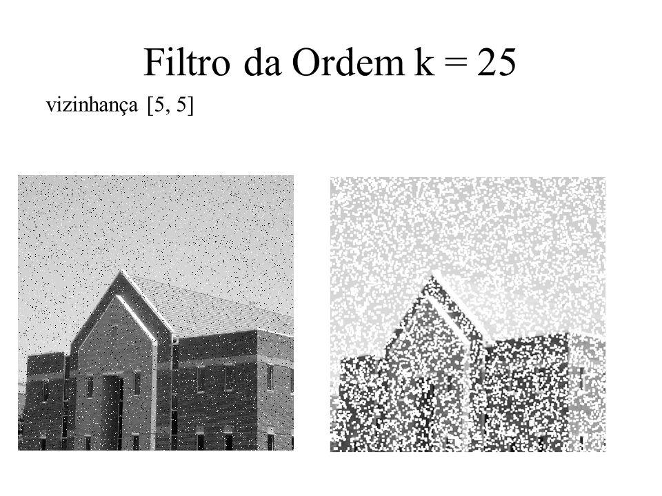 Filtro da Ordem k = 25 vizinhança [5, 5]